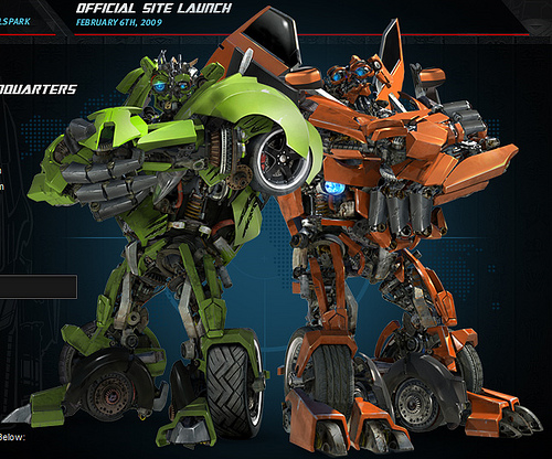 The Twins Skids and Mudflap from Transformers: Revenge of The Fallen