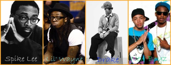 Spike Lee, Lil Wayne, Drake, and New Boyz